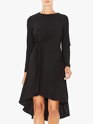 Adrianna Papell Matte Jersey Flare Dress, Black