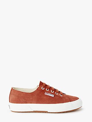 Superga 2750 Cotu Classic Trainer Plimsolls, Brown Rust Suede