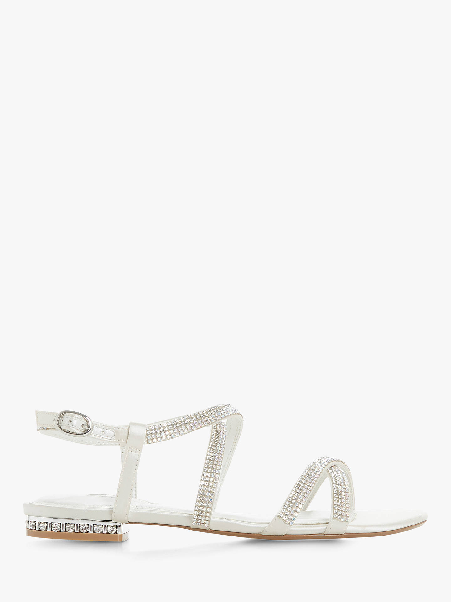 BuyDune Bridal Collection Nicest Diamante Strap Sandals, Ivory, 8 Online at johnlewis.com