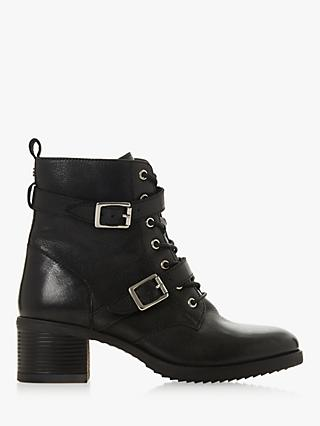 Dune Paxtone Buckle Lace Ankle Boots bb0fa1fd1
