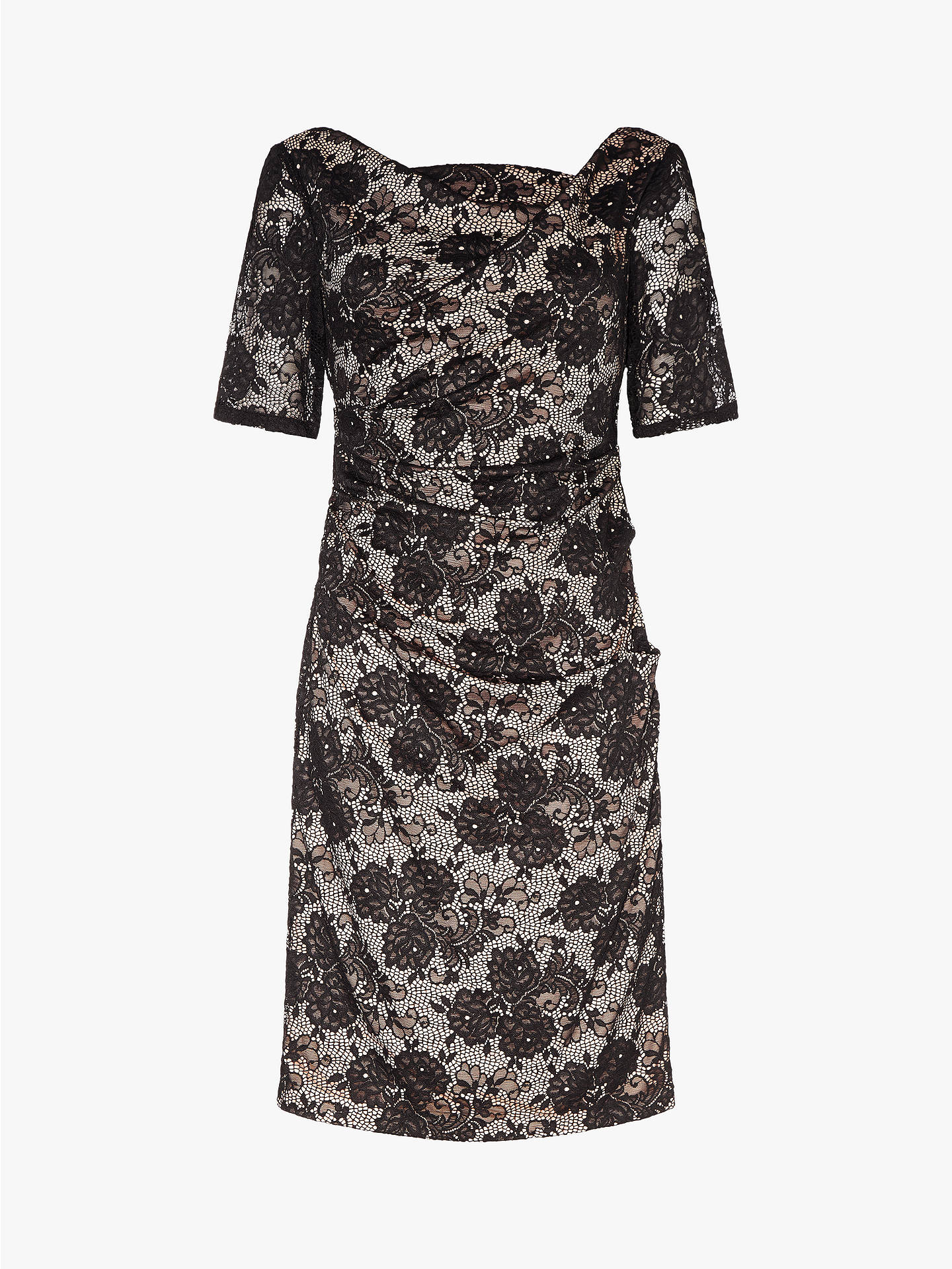 Buy Adrianna Papell Rosa Lace Dress, Black/Pale Pink, 10 Online at johnlewis.com