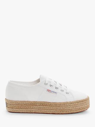Superga 2730 Cotu Flatform Trainers, White Mix