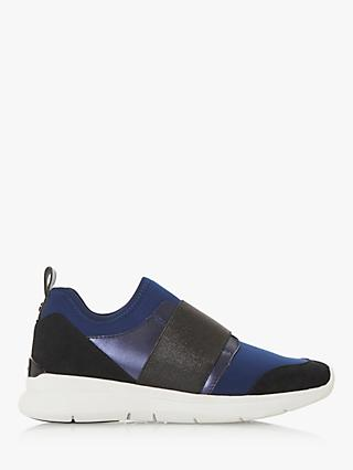 Dune Excitable Slip On Trainers, Navy
