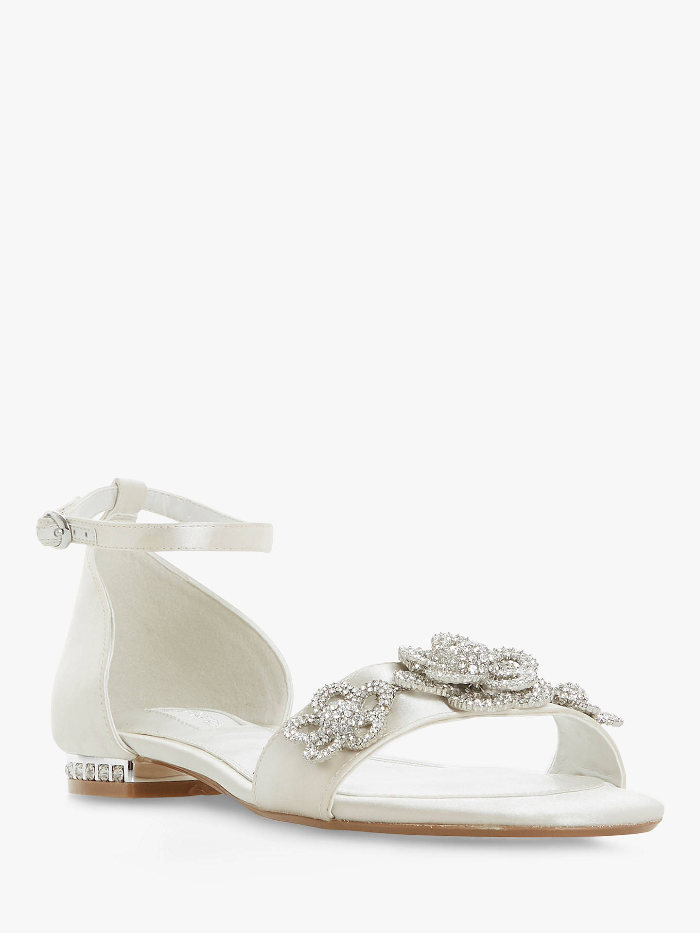 BuyDune Bridal Collection Noted Embellished Sandals, Ivory, 3 Online at johnlewis.com