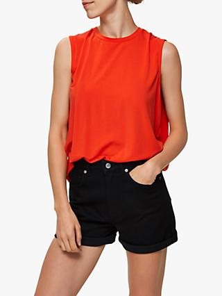 Selected Femme Asha Top, Cherry Tomato