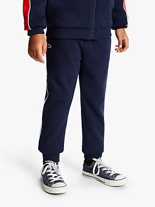 Lacoste Boys' Striped Tracksuit Trousers, Navy