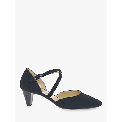 4a4527f3dadb ... Gabor Callow Cross Strap Block Heel Court Shoes ...