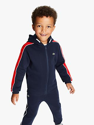 Lacoste Boys' Zip Through Sweatshirt, Navy