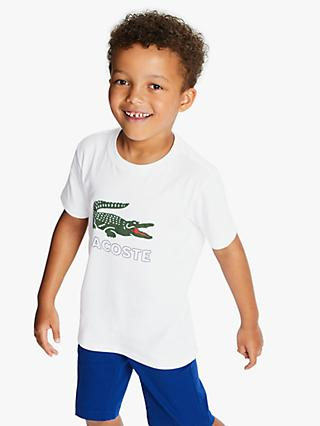 Lacoste Boys' Logo T-Shirt, White