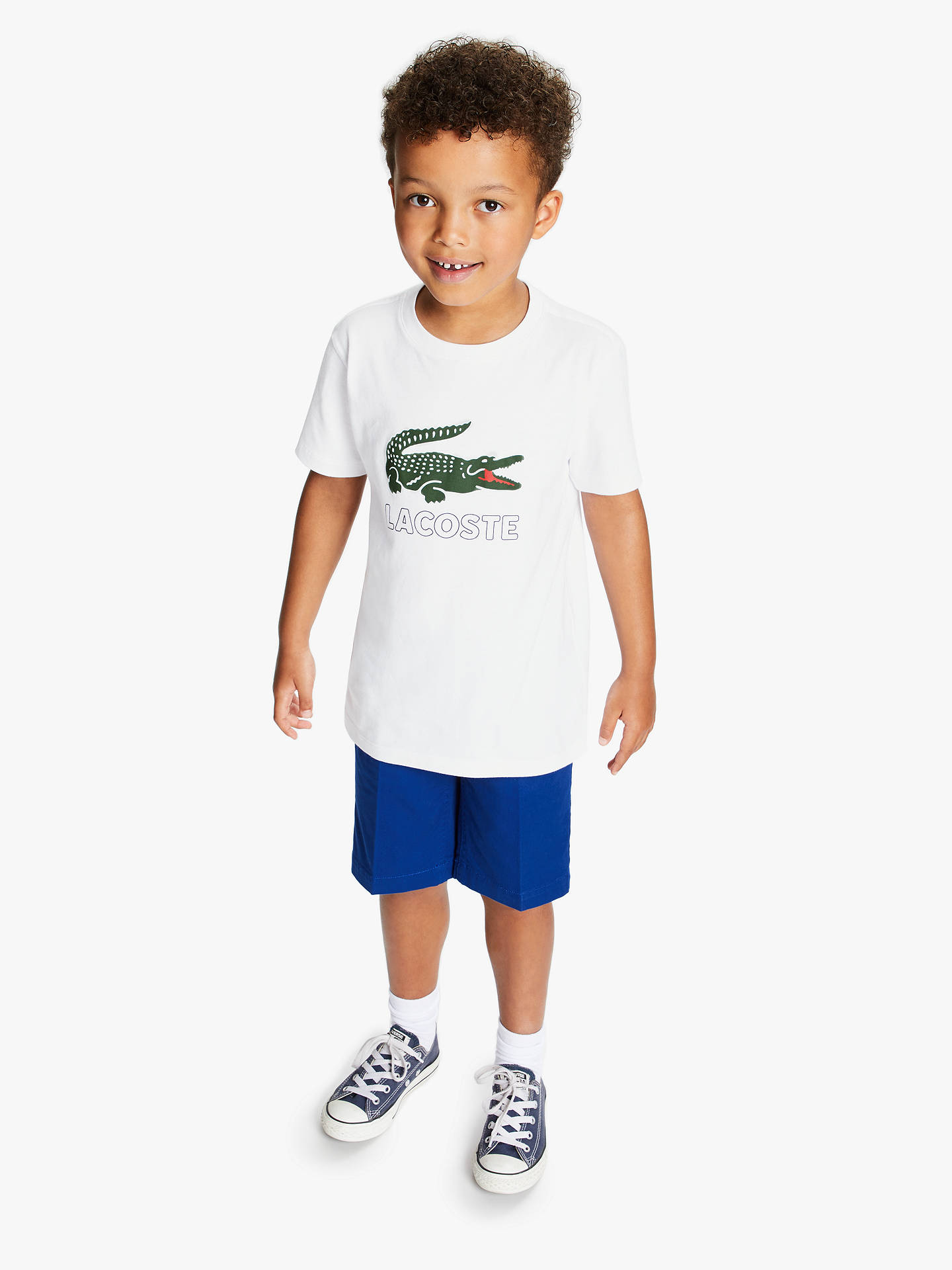 a45ddca9da ... Buy Lacoste Boys' Logo T-Shirt, White, 16 years Online at johnlewis ...