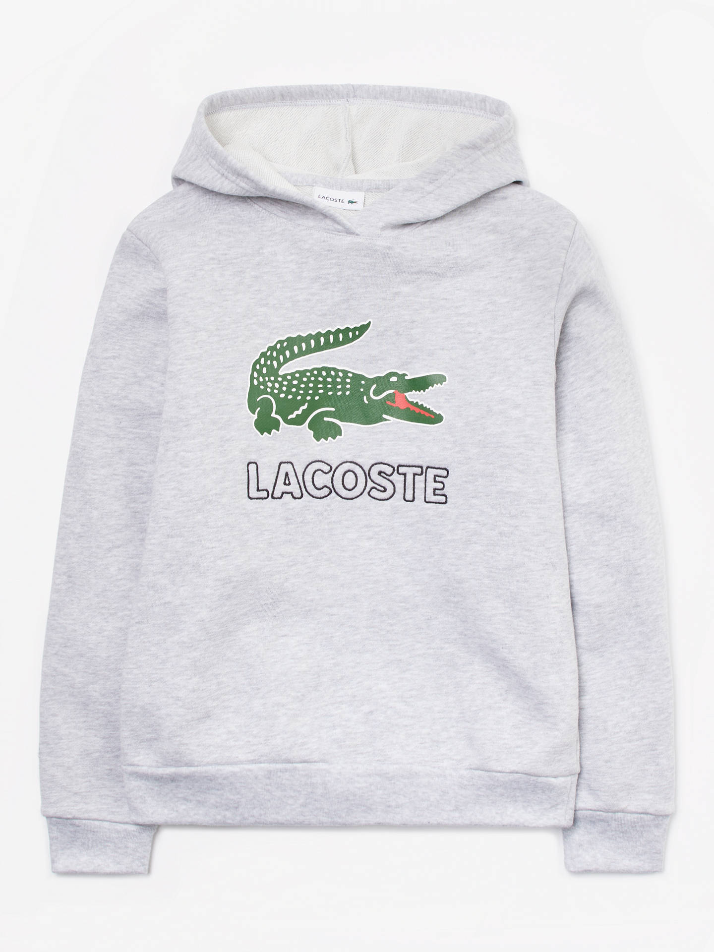 254f4e78 Buy Lacoste Boys' Logo Hoodie, Grey, 8 years Online at johnlewis. ...
