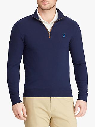 Polo Golf by Ralph Lauren Slim Fit Half Zip Sweatshirt, French Navy