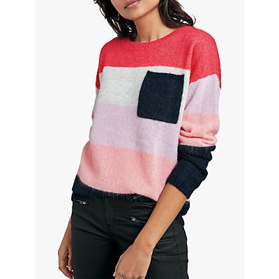 hush Colourblock Jumper, Pink Multi
