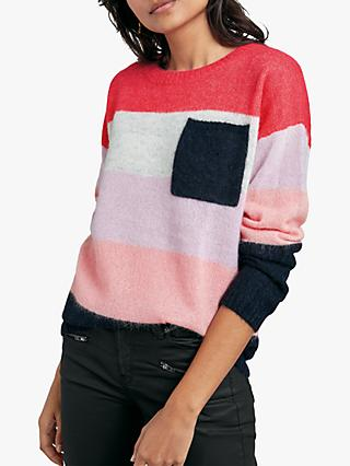 hush Colourblock Jumper, Pink Multi