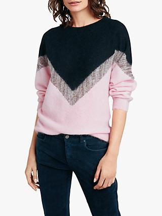 hush Mercury Jumper, Navy/Blush