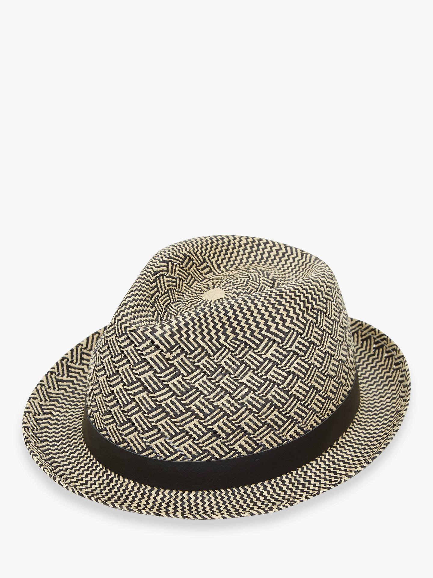 213c53926 Christys' Charlie Parquet Panama Hat, Black at John Lewis & Partners
