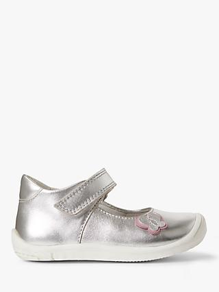 John Lewis & Partners Children's Lottie Mary Jane Shoes, Silver