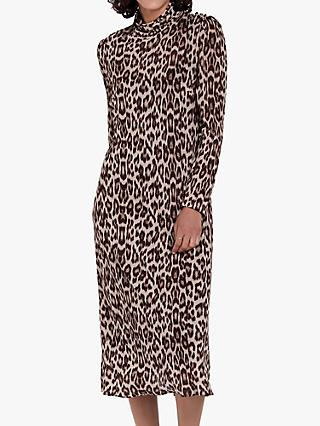 Ghost Nadia Animal Print Midi Jersey Dress 495e6b8fb