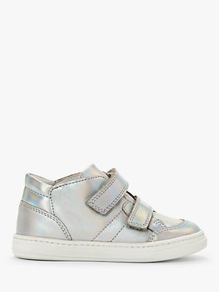 John Lewis & Partners Children's Myla High Top Trainers, Silver
