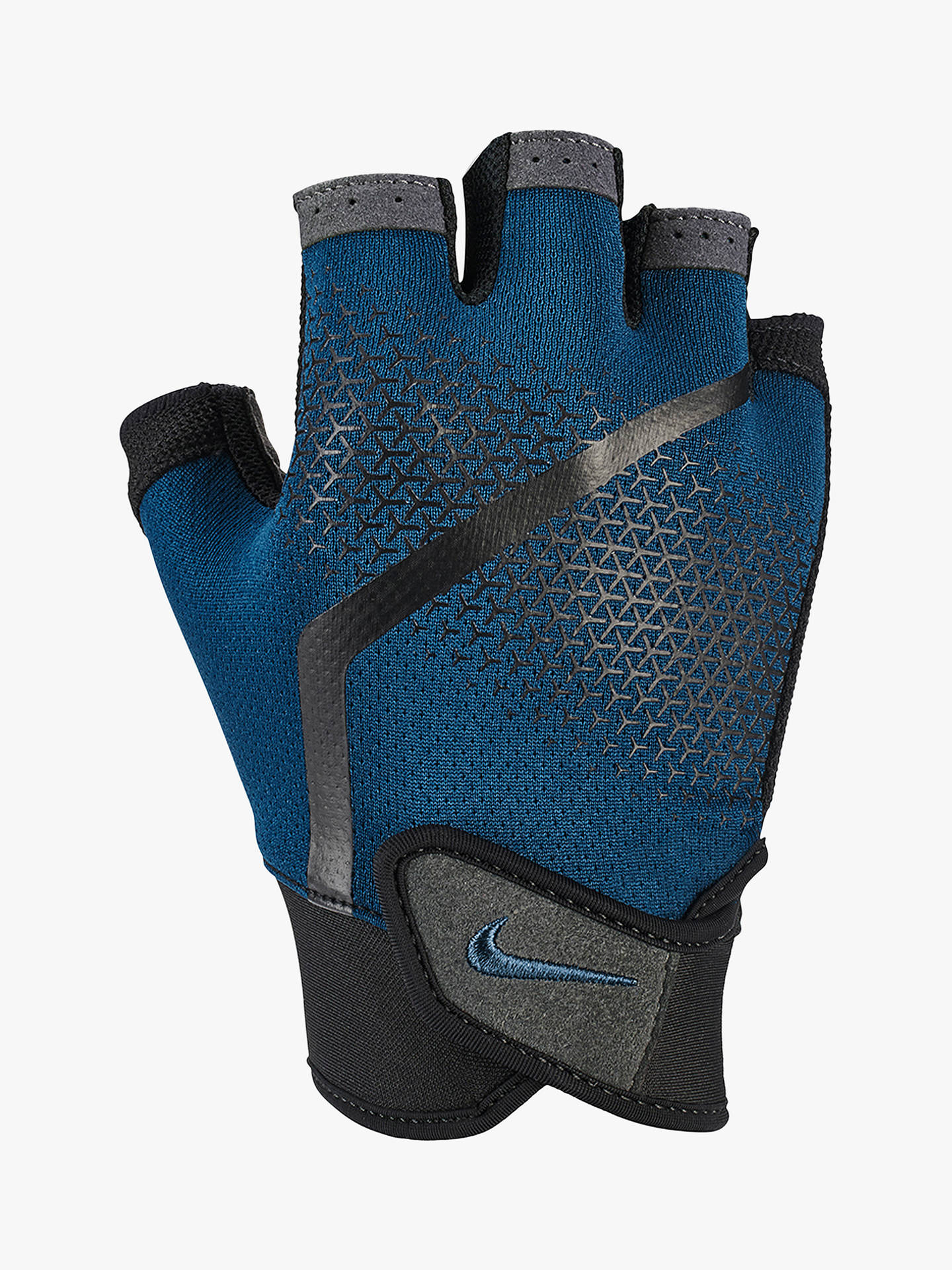 size 40 3865d 072d2 ... Buy Nike Extreme Fitness Training Gloves, Blue Force Black Thunderstorm,  M Online ...