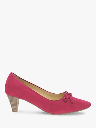 Gabor Pearl Tie Bow Trim Court Shoes