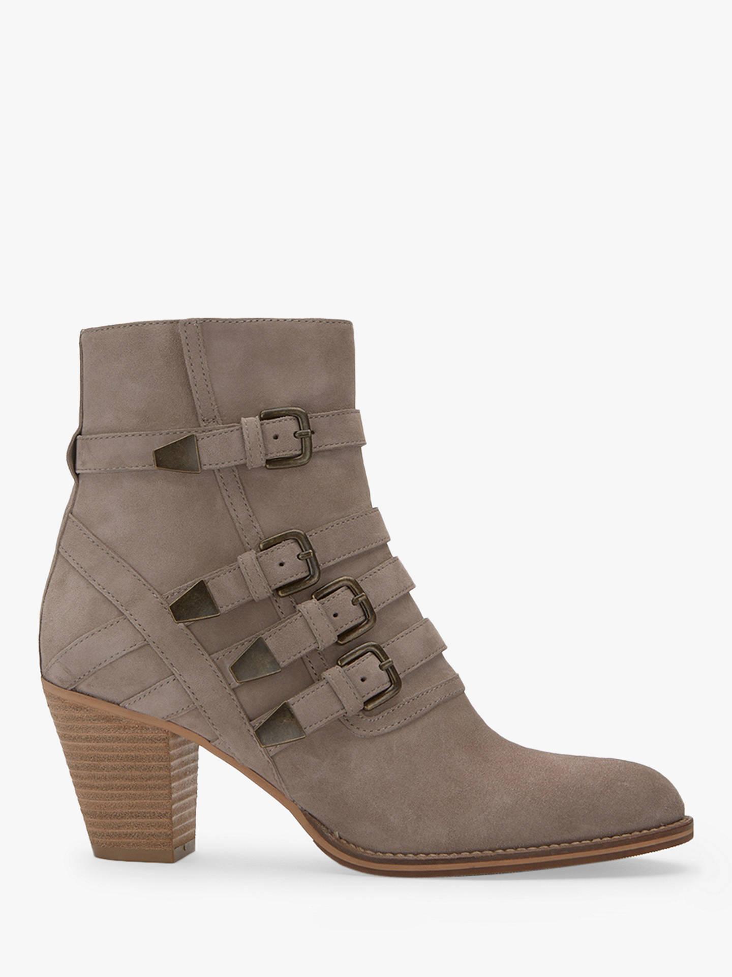 Mint Velvet Harriet Suede Buckle Ankle Boots Light Grey 3 Online At Johnlewis
