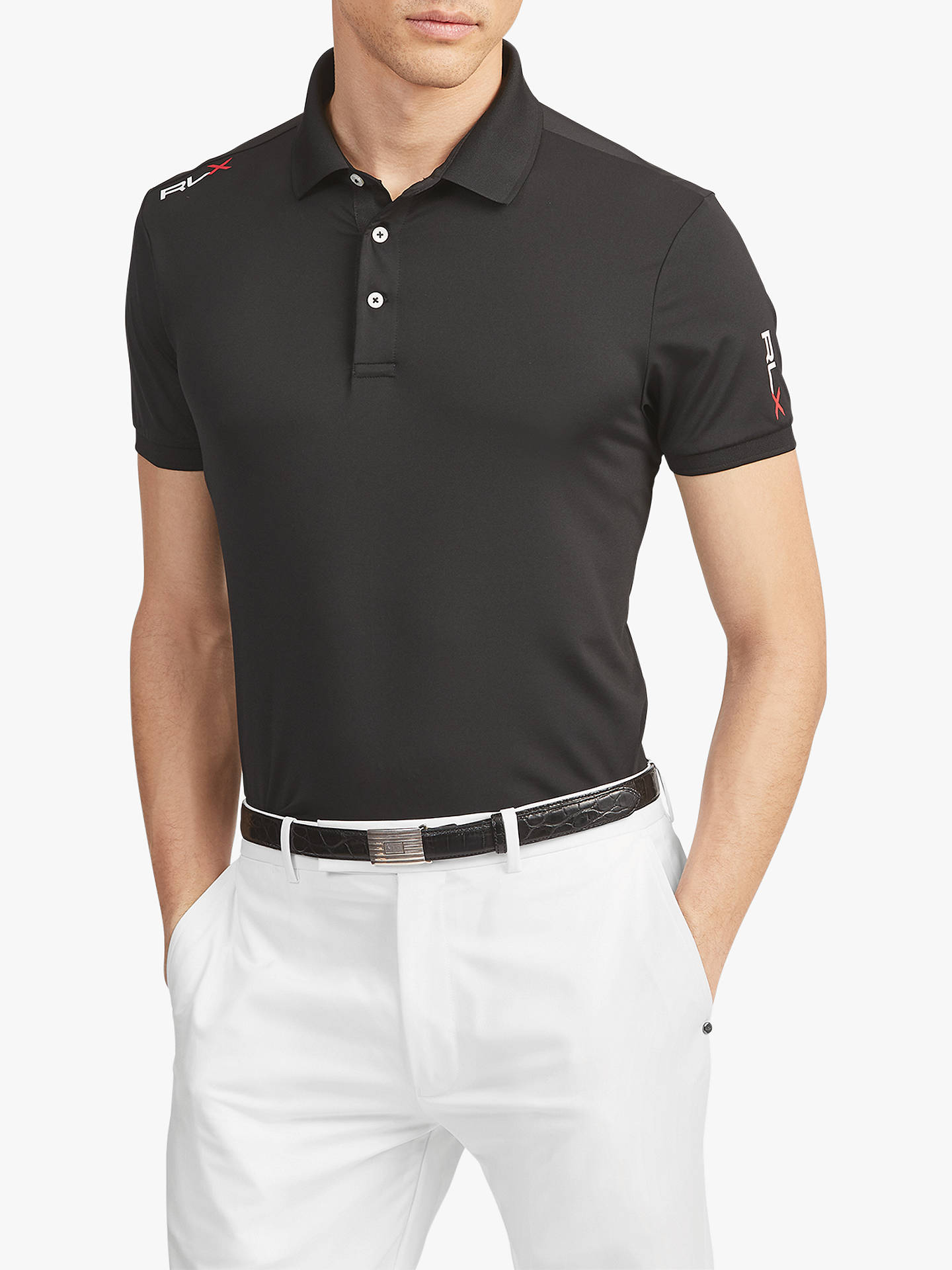d3bf215a8 Buy Polo Golf by Ralph Lauren Active Fit Performance Polo Shirt, Polo  Black, S ...