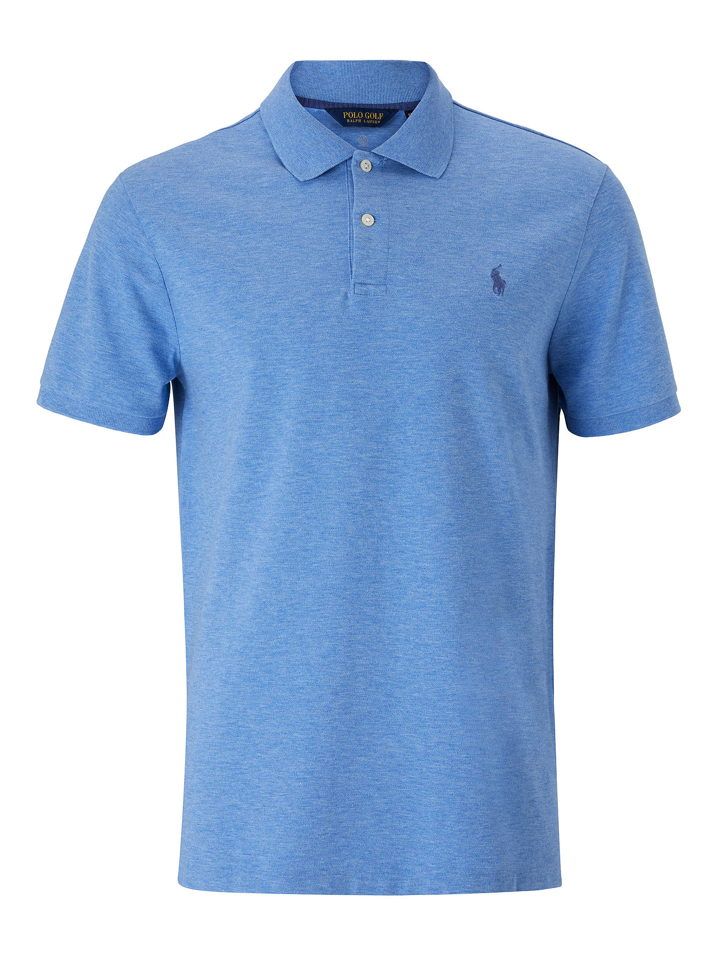 BuyPolo Ralph Lauren Slim Fit Stretch Mesh Polo Shirt, Soft Royal Heather, S Online at johnlewis.com
