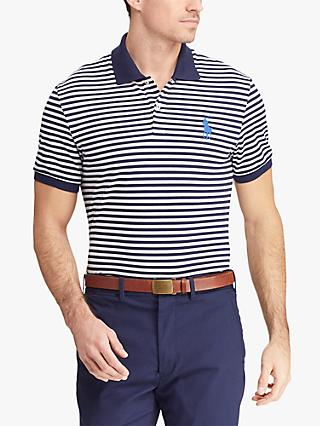 01245b969a94d6 Polo Golf by Ralph Lauren Custom Slim Fit Performance Polo Shirt, French  Navy White