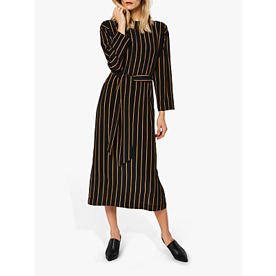 Selected Femme Alessa Stripe Maxi Dress, Black/Camel