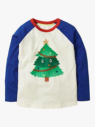 e0c7c729b Mini Boden Boys' Festive Superstitch Christmas Tree T-shirt, ...