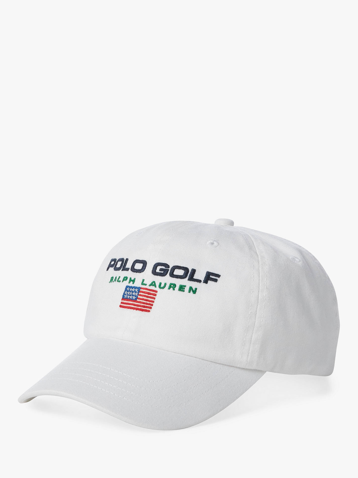 852c0bf9 Buy Polo Golf by Ralph Lauren Sports Cap, Pure White Online at  johnlewis.com ...