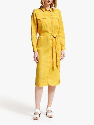 bf9dd6ec60b John Lewis   Partners Linen Collar Shirt Dress