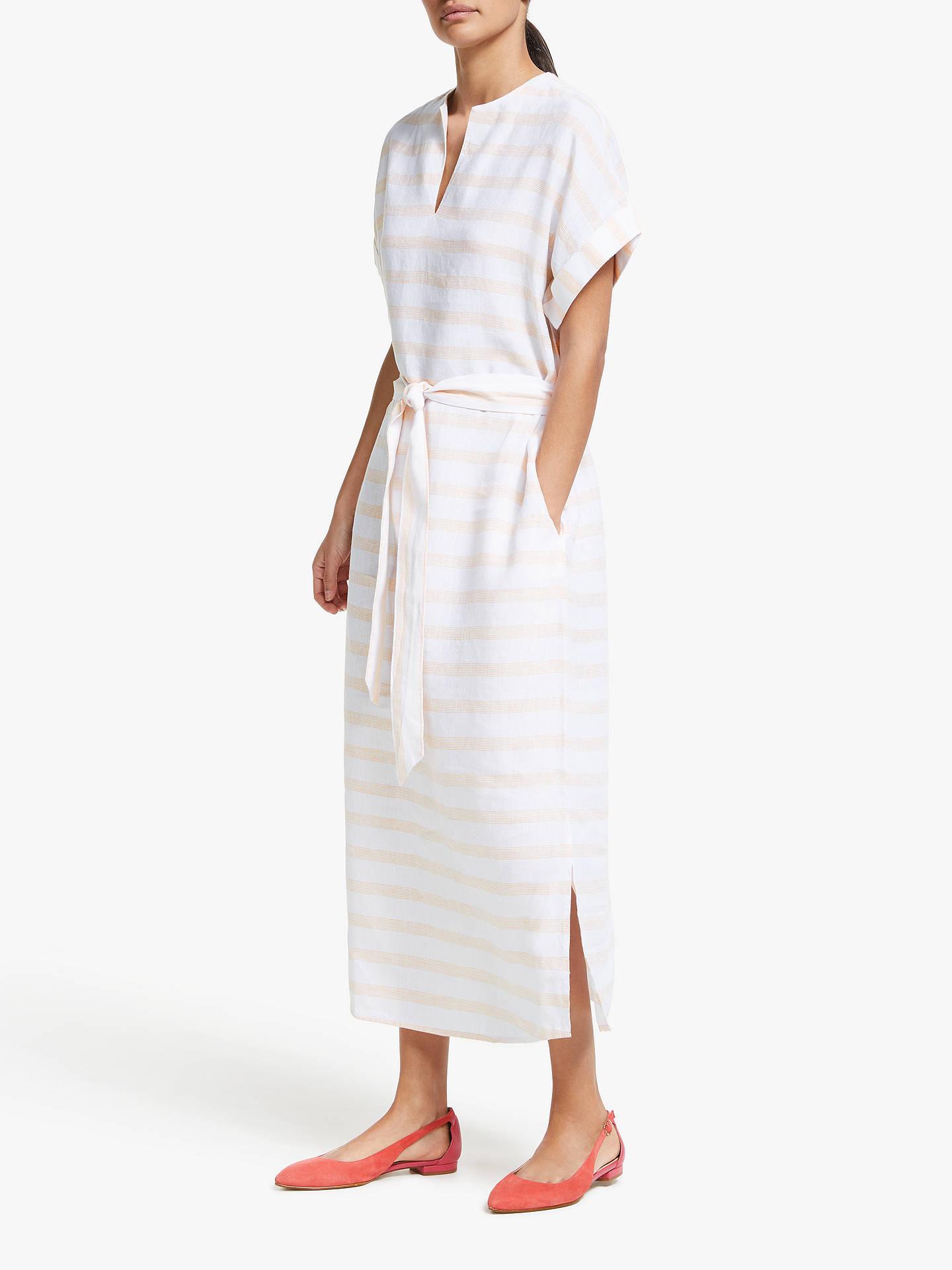 f5cc1e5421d John Lewis   Partners Linen Stripe Belted Shirt Dress at John Lewis ...