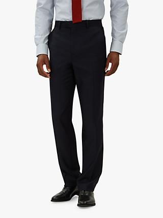 Jaeger Wool Flannel Regular Fit Suit Trousers, Navy