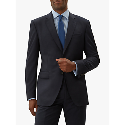 Jaeger Tropical Grid Weave Regular Fit Suit Jacket, Navy