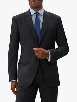 Jaeger Tropical Grid Weave Regular Fit Suit Jacket, Navy