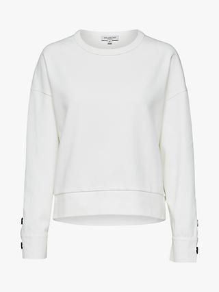 Selected Femme Alli Sweatshirt, Snow White