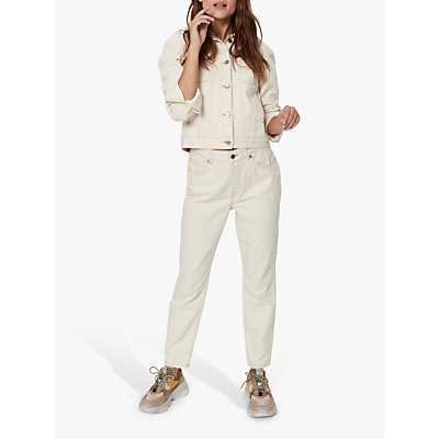 Selected Femme Freja Mom Jeans, White Denim