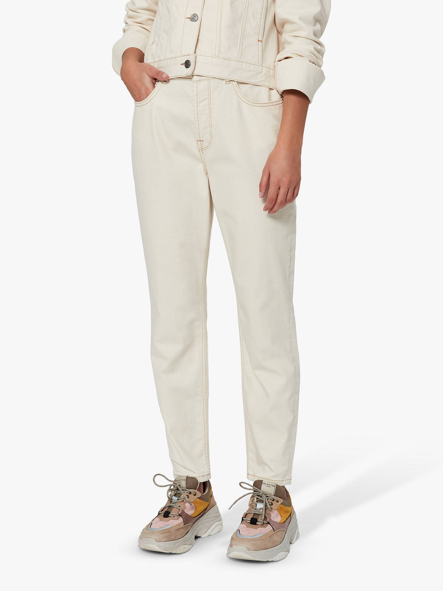 top-rated newest exclusive shoes promotion Selected Femme Freja Mom Jeans, White Denim