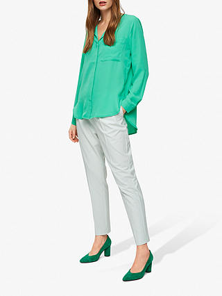 Buy Selected Femme Dynella Shirt, Gum Drop Green, 8 Online at johnlewis.com