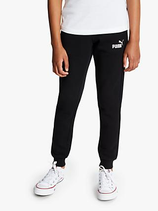 PUMA Girls' Logo Sweat Pants, Black