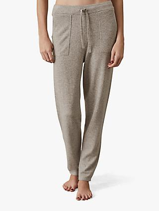Reiss Tracy Knitted Jogger Trousers, Grey