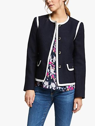 Helene For Denim Wardrobe Coco Jacket, Navy/White