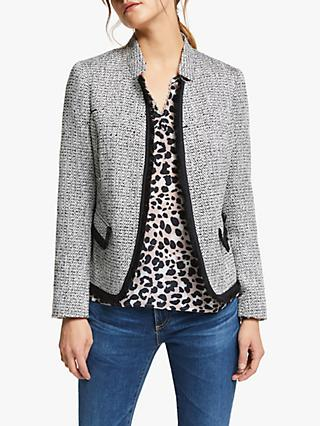 Helene For Denim Wardrobe Notch Collar Jacket, Black/White