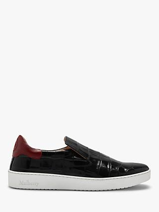 066522e5228 Mulberry Jump Croc Print Leather Slip On Sneakers