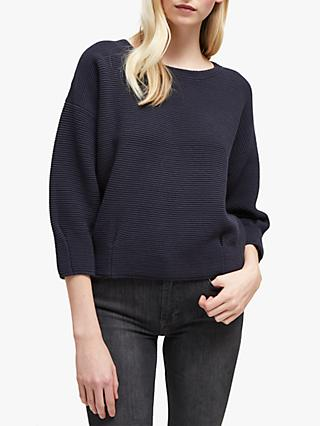 French Connection Ottoman Mozart Jumper, Utility Blue
