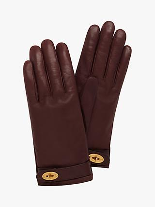 Mulberry Darley Smooth Nappa Leather Gloves