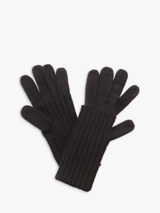 Phase Eight Vanna Fold Gloves, Black