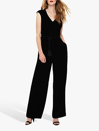 Phase Eight Adelaide Tassel Jumpsuit, Black